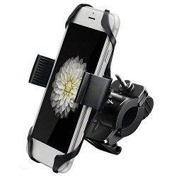 Ipow Metal Bike & Motorcycle Cell Phone Mount, with Unbreakable Metal Handlebar Holder For B ...
