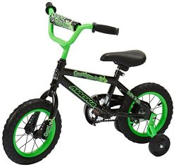 Dynacraft Magna Gravel Blaster Boys BMX Street/Dirt Bike 12″, Black/Green
