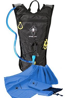 Spider Pro Hydration Pack Lightweight Backpack with 2L Water Bladder INCLUDE BONUS MICROFIBER SP ...