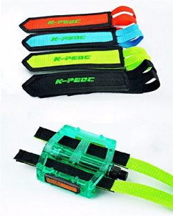 Fixed Gear Fixie BMX Bike Bicycle Cycling Anti-slip Double Adhesive Straps Pedal Toe Clip Double ...