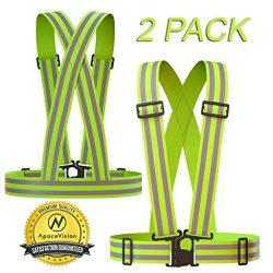 REFLECTIVE VEST (2 Pack) | Lightweight, Adjustable & Elastic | Safety & High Visibility  ...