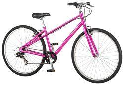 Schwinn Mifflin 700C Women's Hybrid Bicycle, Pink, 16″/Small