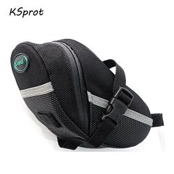 Bicycle Saddle Bag, KSprot Pocket Seat Pack Bike Rear Sack Toolkit Waterproof Black