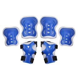 ANCHEER Protective Gear Set For Kids/Youth Knee Pads Elbow Pads Wrist Guards Safety Gear For Cyc ...