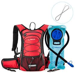 MIRACOL Insulated Hydration Backpack Pack with 2L BPA Free water bladder and Long Tube Brush,Pre ...