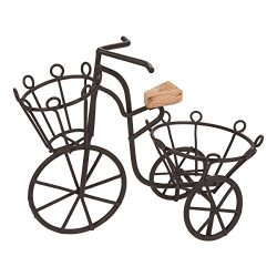 Plant Stand – Miniature Plant Stand, Succulent Plant Stand, Iron Bicycle Potted Plant Hold ...