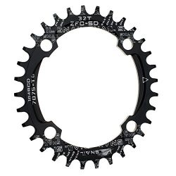 Narrow Wide Chainring Oval 104BCD 32T CYSKY 4 Bolts Bike Single Speed Chainring Perfect for Most ...