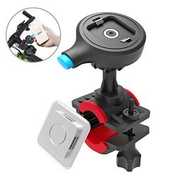 TONGYE Bike Phone Mount Bicycle Holder Cycling Accessories with One-Second Lock, One-Button Rele ...