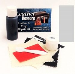 Leather Repair Kit with READY TO USE Color, LIGHT GRAY for Couch, Sofa, Car Seats, Furniture