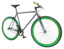 Vilano Rampage Fixed Gear Fixie Single Speed Road Bike, Grey/Green, Medium/54cm