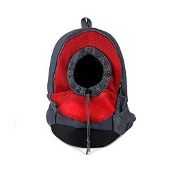 Smiry Pet Dog Cat Travel Carrier Breathable Backpack Bag Front for Dogs Carrier Bike Hiking Outdoor
