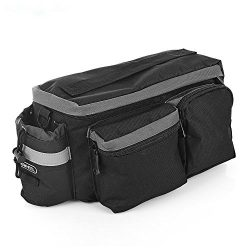 NACATIN 6L Water Resistant Bike Pannier Bag Multifunctional Rear Seat Trunk Bag Shoulder Bag wit ...