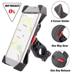 Bike Mount for Phone Anti Shake Fall Prevention Bicycle Handlebar Mobile Phone Holder Cradle Cla ...