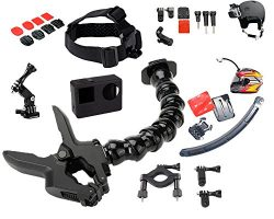 Jaws Flex Clamp with 22 Pcs for All in One Gopro Accessories Kit Bundle Bike Motorcycle Mountain ...