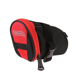 Roswheel Outdoor Cycling Bike Bicycle Saddle Bag Under Seat Packs Tail Pouch – Black-Red
