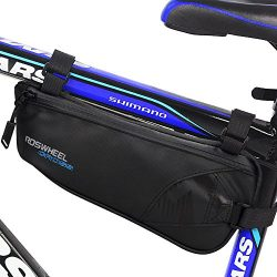 Bike Bag, Intsun Bicycle Triangle Frame Bag Nylon Water Resistant Bicycle Bag Bike Storage Bag U ...