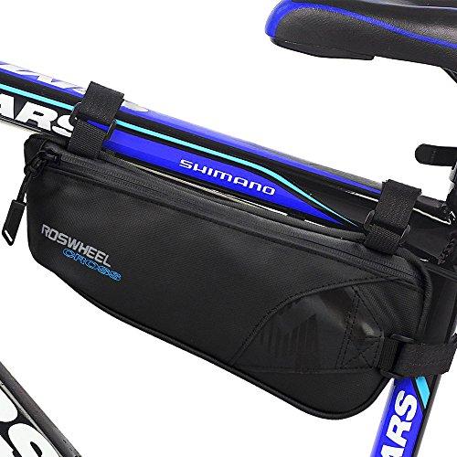 Bike Bag, Intsun Bicycle Triangle Frame Bag Nylon Water Resistant Bicycle Bag Bike Storage Bag U ...