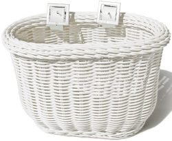 Colorbasket 01242 Kid's Front Handlebar Bike Basket, White