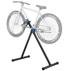 SONGMICS Pro Mechanic Bike Repair Stand Foldable Lightweight Portable Bicycle Maintenance Rack W ...