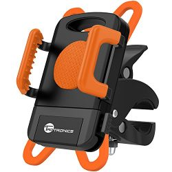 TaoTronics Bike Phone Mount, Bicycle Holder, Universal Cradle Clamp -Fits iPhone 5 / 6 / 6S / 7  ...