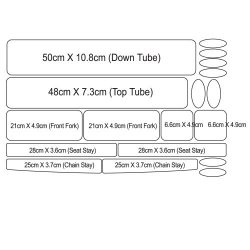 Precut Bike Protective Tape 3M Protection Film for BMX (Clear Transparent)