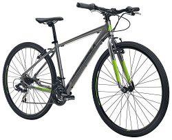 Diamondback Bicycles Trace ST Dual Sport Bike, Silver, 22″/X-Large