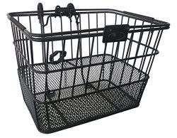 Mesh Bottom Lift-Off Basket w/ Bracket, Black