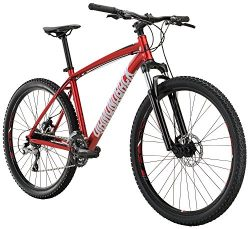 Diamondback Bicycles Overdrive Hardtail Mountain Bike with 27.5″ Wheels, 16″/Small, Red