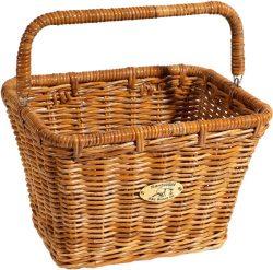 Nantucket Bicycle Basket Co. Cisco Dutch Rectangle Basket w/ Hooks