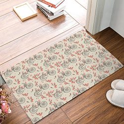 Olivefox Funny Waterproof Bathroom Doormat Home Decor Welcome Large Mat Entrance Way Indoor/Outd ...