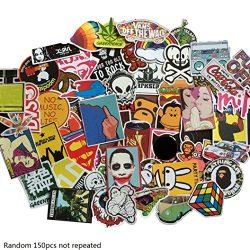 BIBITIME Vinyl Stickers for Car Windows Bike Skateboard Guitar Travel Luggage Suitcase Decals (R ...