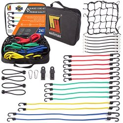 Bungee Cord Moving Straps by Wellmax | Durable Rubber, Elastic Straps with Hooks | Heavy Duty Co ...