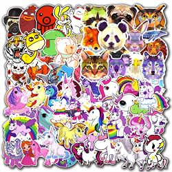 135 Pcs Unicorn and Animals Stickers for Laptop Car Luggage Bicycle Motorcycle Computer Skateboa ...