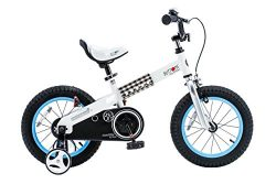 Royalbaby CubeTube Kid's Bike, Blue Buttons, 14 inch wheels