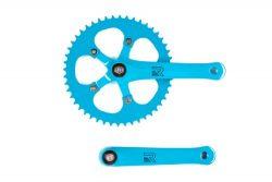 Retrospec Bicycles Fixed-Gear Crank Single-Speed Road Bicycle Crankset, Aqua