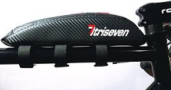 Triseven Aero Bag 10~top frame bag~carbon design~Lightweight~easy mount~cycling bag~waterproof m ...
