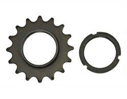 16T Track Fix Cog 1/8 Black. Bike cog, bicycle cog for track bike, fixies, fixed gear bikes