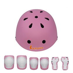 LANOVAGEAR Kids Child Adjustable Cycling Bicycle Protective Gear Set 7pcs  Toddler Helmet Elbow K .. 76124f58a5