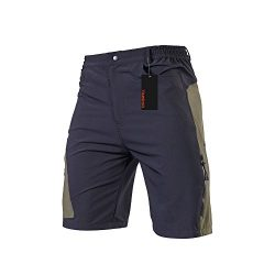 TOMSHOO Men's Baggy Cycling Shorts Breathable Loose-Fit Mountain Bike Shorts Outdoor Sport ...