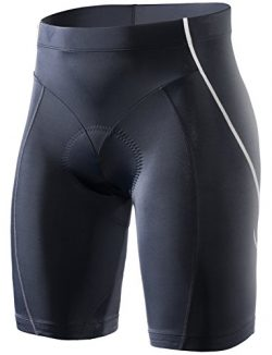 RION CYCLING Men's Bike Shorts Padded Tights Bicycle Pants (Steed-B8, M)