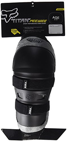 FOX KIDS TITAN KNEE/SHIN GUARD BLACK/SILVER