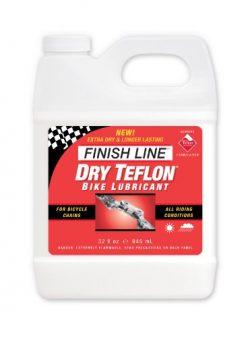 Finish Line DRY Teflon Bicycle Chain Lube, 32-Ounce Quart Jug