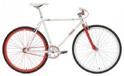 Chill Bikes Single Speed Commuter Fixie Bike Alloy Frame, Matte White, 53cm
