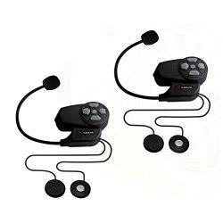 LEXIN 2pcs MAX2 800m Motorcycle Bluetooth Helmet Intercom Wireless Bike to Bike Communication Sy ...