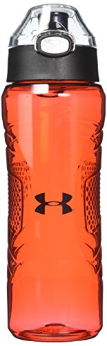 Under Armour Draft 24 oz Tritan Hydration Bottle with Push Button Top, Red