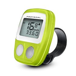 Protocol Digital Bike Speedometer/Odometer -Digital Cycling Computer with Large Display for Easy ...