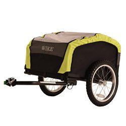 WIKE City Cargo Bicycle Trailer – Black/Lime