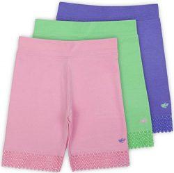 Lucky & Me Jada Little Girls Bike Shorts, Tagless, Soft Cotton, Lace Trim, Underwear, 3 Pack ...