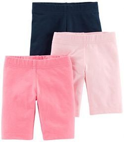 Simple Joys by Carter's Toddler Girls' 3-Pack Bike Shorts, Pink, Navy, 5T