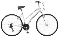 Schwinn Network 1.0 700c Women's 16 Hybrid Bike, 16-Inch/Small, White